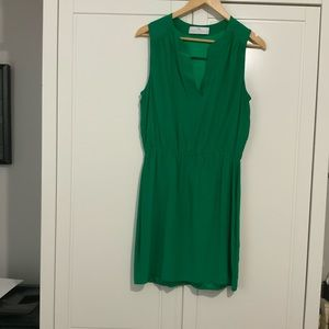 EUC Amanda Uprichard silk green dress in Medium